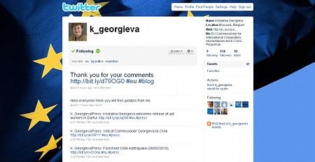 Кристалина Георгиева, twitter, blog, комисар, евро, ес, блог, commissioner, Kristalina Georgieva