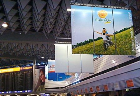 снимки, реклама, българия, туризъм, германия, франкфурт, летище, photos, bulgaria, travel, tourism