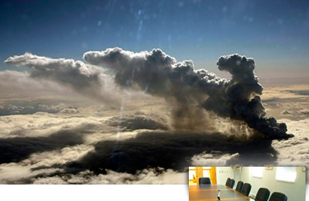 умен, бизнес, вулкан, исландия, полети, самолети, видео конференции, идеи, интернет