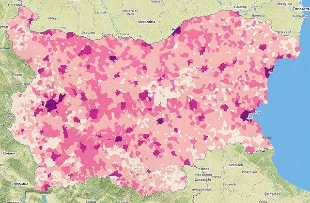 Разпределение на населението в страната