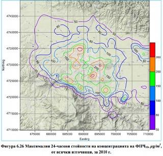 Карта на праховото замърсяване в София